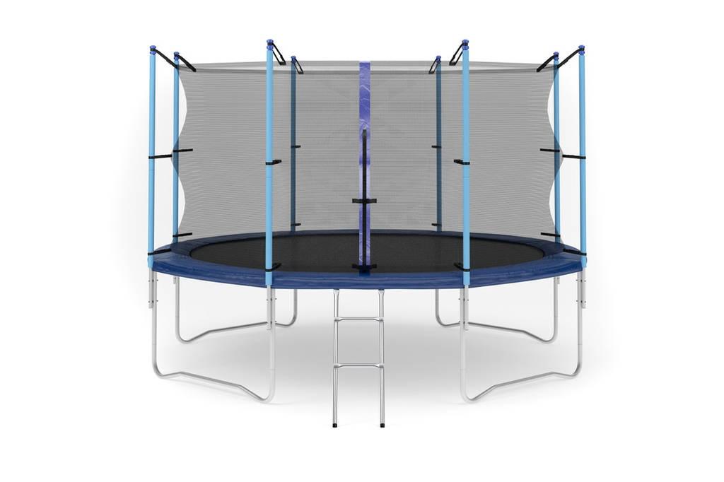 Батут с внутренней сеткой и лестницей 366 см (12 ft) бренда Hop Sport