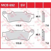 Тормозные колодки Honda Pan European комплект TRW / Lucas MCB692SV