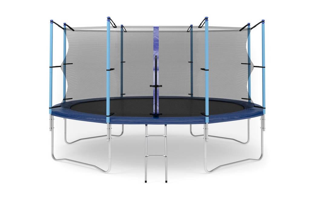 Батут с внутренней сеткой и лестницей 427 см (14 ft) бренда Hop Sport