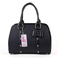 Черная дамская сумка на руку женская №1338m