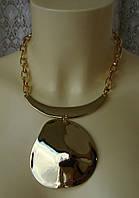 Ожерелье женское колье модное с подвеской металл ювелирная бижутерия 5454