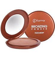 Пудра бронзирующая для лица и тела Flormar Bronzing Powder