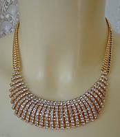 Колье женское модное украшение металл ювелирная бижутерия 5456