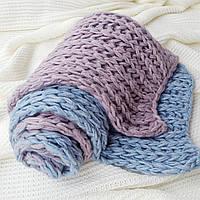 Шарф Ohaina вязаный  розово-голубой, фото 1