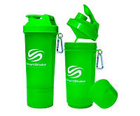 SmartShake Slim NEON Green 500 ml