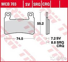 Kawasaki/Honda тормозные колодки TRW / Lucas MCB703SV