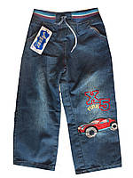 Детские джинсы на мальчика. 3-7 лет. Синие. Оптом.