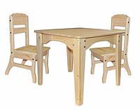 Столик детский  и 2 стульчика  ( дерево)