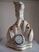 Фигура Коты часы фарфор