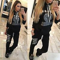 Спортивный костюм женский черный ЕК/-363