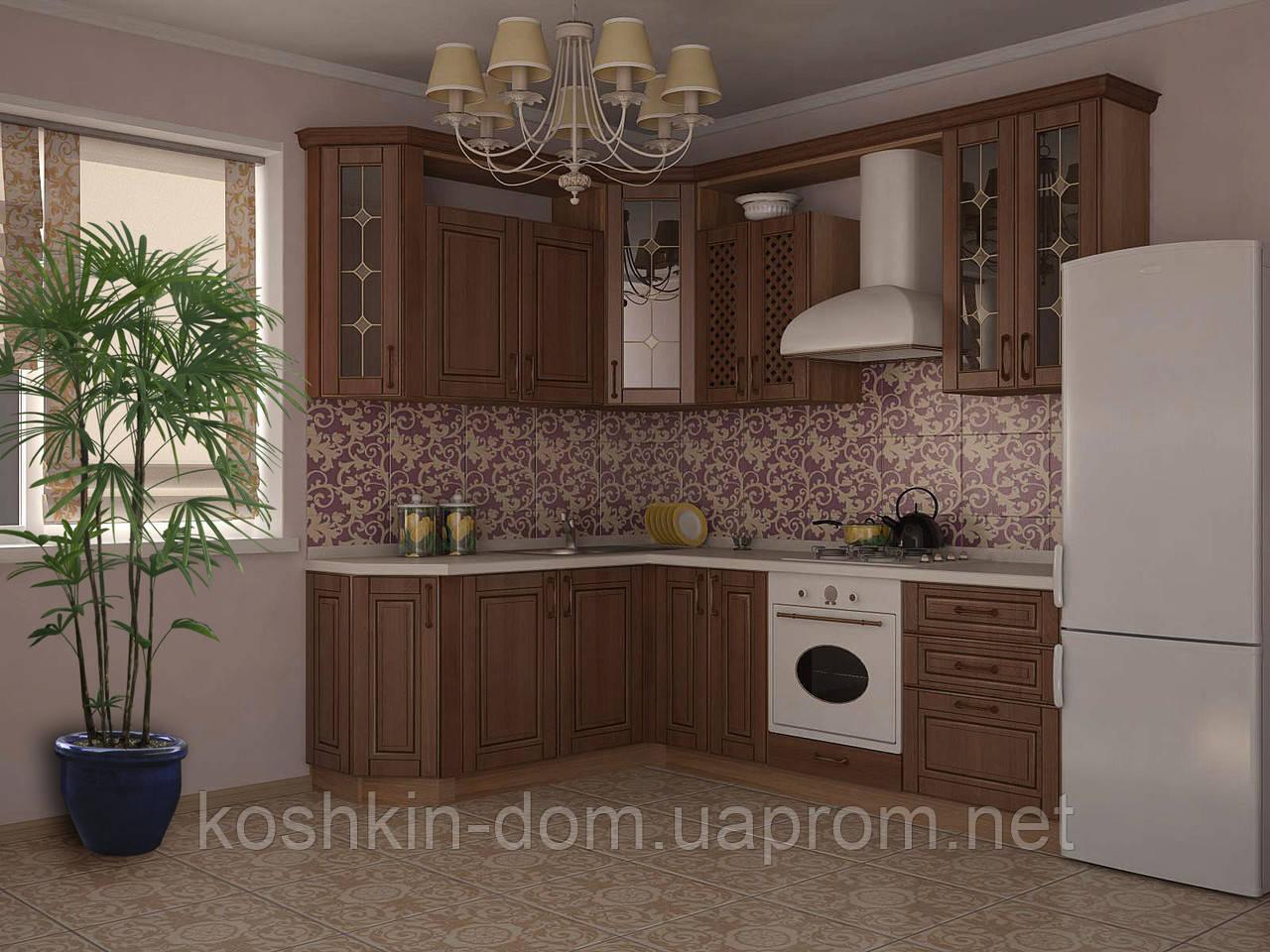 Кухня модульная угловая Ким MDF 1800*2400 мм