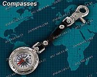 Компас TSC-40-2, жидкостный компас, компас с карабином, туристический компас, корпус метал,подарок рыбаку