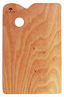 Палитра деревянная, прямоугольная, эргономичная, промасленная, 25 *35см, ROSA, 25х35 см
