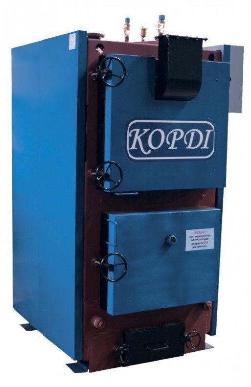 Универсальные промышленные котлы отопления на твердом тпливе Корди КОТВ 100 М