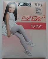 Черные эластичные колготки для девочки (40 Den), рост 128-134 см