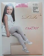Розовые эластичные колготки для девочки (40 Den), рост 128-134 см