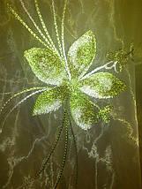 """Тюль органза """"Хризолит"""" зеленый, фото 3"""