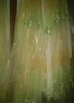 """Тюль органза """"Хризолит"""" зеленый, фото 2"""