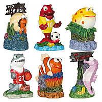 Декорація для акваріума Trixie Набір морські мешканці, 7 см (12 шт).
