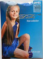 Голубые эластичные колготки для девочки (20 Den), рост 140-146 см