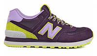 Кроссовки женские New Balance 574 BFF Pack Purple Candy (нью бэлэнс)