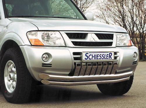 Защита передняя Mitsubishi Pajero 2000-2007