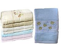 Махровое полотенце банное (Цветочный) 70х140