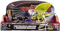 Набор фигурок Spin Master Dragons Иккинг и Беззубик против дракона в броне со снарядом (SM66599)