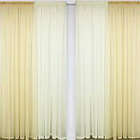 Шифоновые шторы на окна  комплект