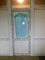 """Межкомнатные металлопластиковые двери Windom (Виндом) в пластиковой перегородке - """"Окна Маркет"""""""