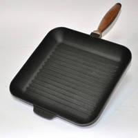Чугунная сковорода -гриль 28*28 см