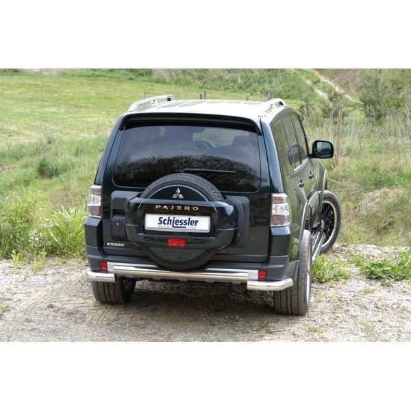 Защита задняя Mitsubishi Pajero 2007 +