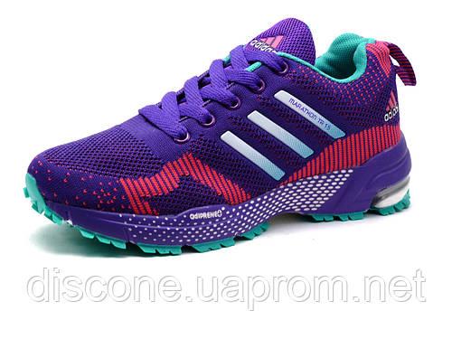Кроссовки Adidas Marathon TR 15, женские, фиолетовые, розовые вставки