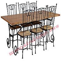 Кованые стулья и столы для ресторана и кафе 39