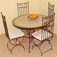 Кованые стулья и столы для ресторана и кафе 42