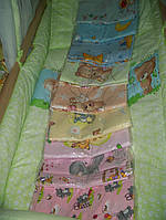 Белье постельное детское (простынь, наволочка, пододеяльник) Цвета в ассортименте