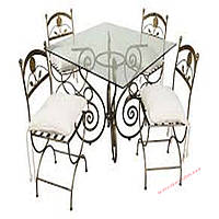 Кованые стулья и столы для ресторана и кафе 51