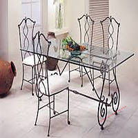 Кованые стулья и столы для ресторана и кафе 56