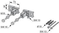 Комплект дюбелей TECE для крепления модуля к стене