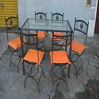 Кованые стулья и столы для ресторана и кафе 61