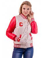 "Демисезонная красная куртка ""Бритни"", фото 1"