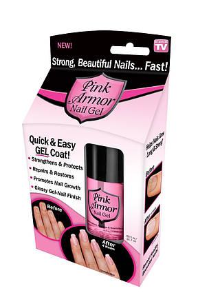 Гель для укрепления и роста ногтей Pink Armor Nail Gel, фото 2
