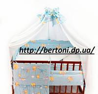 Комплект в кроватку 6 элементов ранфорс