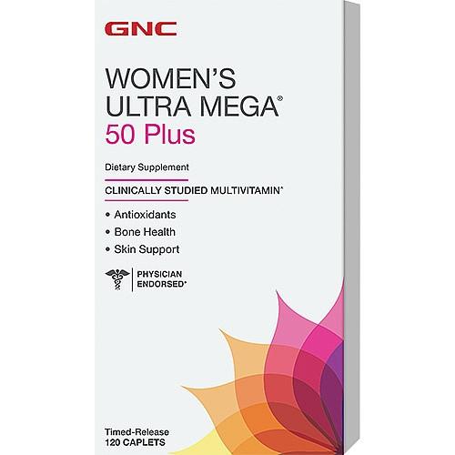 GNC Women's Ultra Mega 50 Plus 120 caplets