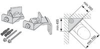 Комплект TECE для крепления модуля в углу, фото 1