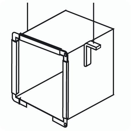 Монтаж воздуховодов: кронштейн L образный