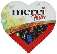 Шоколадные конфеты ассорти Merci Petits Heart в форме сердца, 250 гр, фото 1