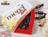 Шоколадные конфеты ассорти Merci Petits Heart в форме сердца, 250 гр, фото 4