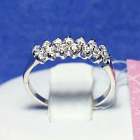 Кольцо из серебра с фианитами 4743-р, фото 1