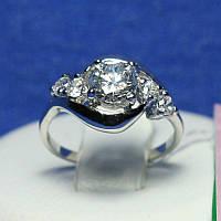 Кольцо из родированного серебра Малика 4815-р, фото 1